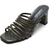 Tamanco Dafiti Shoes Tiras Verde