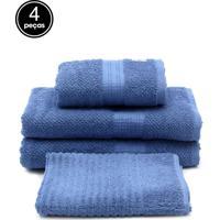 Jogo De Banho Buddemeyer Frape Azul 4 Pçs 70 X 135