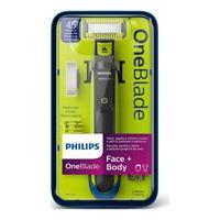 Barbeador Elétrico Philips Oneblade Face E Body Com 1 Aparelho + Acessórios 1 Unidade