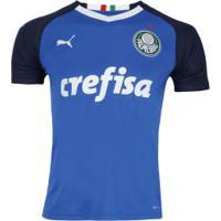 Netshoes  Camisa De Goleiro Do Palmeiras I 2019 Puma - Masculina - Azul  Escuro 5c16825ea2d6f