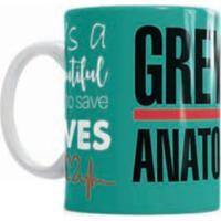 Caneca De Cerâmica Sude Presentes Grey'S Anatomy Verde
