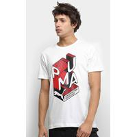 Camiseta Puma Graphic Effect Interest Masculina - Masculino-Branco