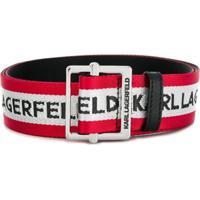 Karl Lagerfeld Cinto Com Logo Web - Vermelho