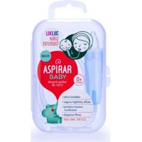Aspirador Nasal Aspirar Baby Com Estojo Likluc - Unissex-Verde