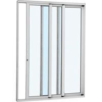 Porta De Correr Alumínio - 3 Folhas - Branco Alumifort Direita 216X200X12,5Cm - 77136550 - Sasazaki - Sasazaki