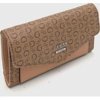 Carteira Guess Letters Bege