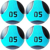 Kit 4 Medicine Ball Liveup Pro C 5 Kg Bola De Peso Treino Funcional - Unissex