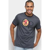 Camiseta Ocean Pacific Logo Original Masculina - Masculino-Preto