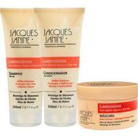 Kit De Shampoo & Condicionador + Mã¡Scara Luminosidade- Jjacques Janine