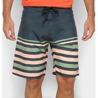 Boardshort Mood Basic - Masculino - Masculino-Verde Escuro