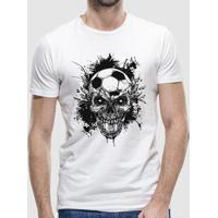 Camiseta Skull And Bola Masculina - Masculino
