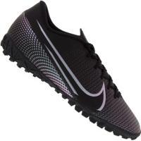 Chuteira Society Nike Mercurial Vapor 13 Academy Tf - Adulto - Preto