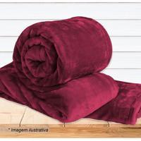 Cobertor Super Soft Casal- Vermelho Escuro- 180X220Csultan