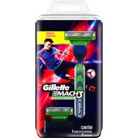 Aparelho De Barbear Gillette Mach3 Sensitive Barcelona + 2 Cargas Edição Especial