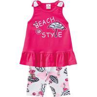 """Conjunto De Blusa """"Beach Style"""" + Bermuda Guarda-Sol- Pibrandili"""