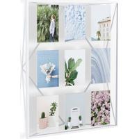 Porta-Retrato 10X15 Prisma Branco