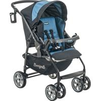 Carrinho De Bebê At6 K-Preto/Azul Burigotto