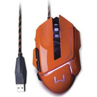 Mouse Gamer 3200 Dpi Laranja Usb Warrior Mo263