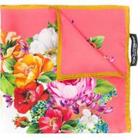 Dolce & Gabbana Small Floral Print Silk Scarf - Rosa