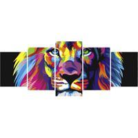 Quadro Decorativo Leão Pop Art