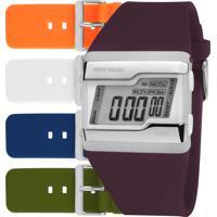 Relógio Digital Mormaii Unissex Troca Pulseiras - Fzcabt8B Multicor