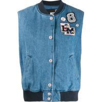 Love Moschino Colete Bomber Com Logo - Azul
