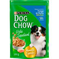 Ração Para Cães Dog Chow Vida Saudável Adultos Sachê Sabor Frango Ao Molho Com 100G