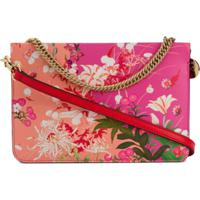 Givenchy Bolsa Transversal Cross3 Floral - Rosa