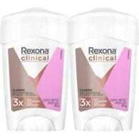 Kit 2 Desodorante Antitranspirante Rexona Clinical Women 48G - Unissex-Incolor