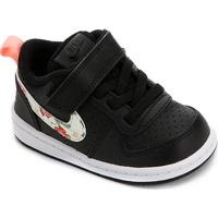 Tênis Infantil Nike Court Borough Low Vf - Feminino-Preto+Pink