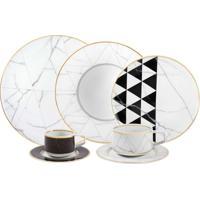 Jogo De Jantar Com Chá E Café De Porcelana Vista Alegre Carrara - 30 Peças