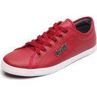 a73b57f2bb8 Sapatênis Coca-Cola Shoes Marx Vermelho