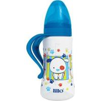Mamadeira Lillo Design Fashion C/ Alça Bico Ortodôntico Azul 300Ml - Unissex-Incolor