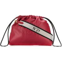 Nº21 Bolsa Transversal Com Cordão De Ajuste - Vermelho
