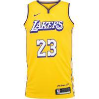 Camisa Regata Nike Los Angeles Lakers Lebron James 23 Jsy - Masculina - Amarelo