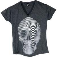 T-Shirt Macchina Lab Skull Tunes Cinza