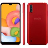 "Smartphone Samsung Galaxy A01 32Gb 4Gb Octa-Core 2Gb Ram Tela 5,7"" - Unissex"