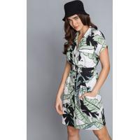 Vestido Chemise Cinto Linho Echo - Lez A Lez