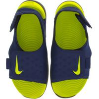 Papete Nike Sunray Adjust 5 - Infantil - Azul Esc/Verde Cla