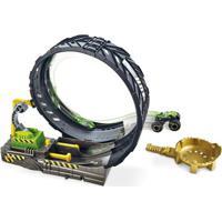 Pista De Percurso E Veículo - Hot Wheels - Monster Trucks - Looping - Mattel