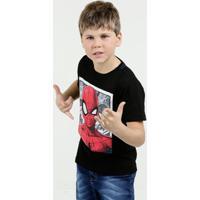 Camiseta Infantil Homem Aranha Manga Curta Marvel
