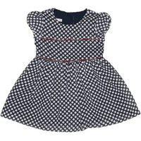 Vestido Infantil / Baby Em Voial Com Forro De Tricoline - Um Mais Um Marinho