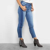 Calça Jeans Skinny Colcci Base Bia Barra Desfiada Cintura Alta Feminina - Feminino-Jeans