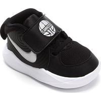 Tênis Infantil Nike Team Hustle D 9 Td - Unissex-Preto+Prata