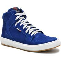 ... Tenis Sneaker Masculino Cano Alto - Masculino-Azul b73f3add1f