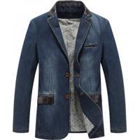 Blazer Jeans Masculino - Azul Xgg