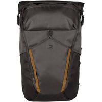 Mochila Para Laptop Luxe- Cinza Escuro & Amarelo Escuro