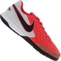Chuteira Futsal Nike Tiempo Legend 8 Academy Ic - Adulto - Coral/Branco