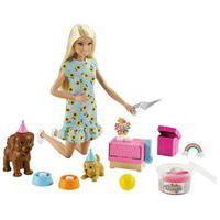 Barbie Festa Do Filhote Com Cachorrinhos Vestido Girassol 3+ Gxv75
