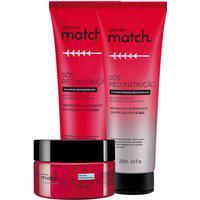 Combo Match Sos Reconstrução: Shampoo + Condicionador + Máscara